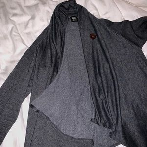 Bobeau open front sweater with button